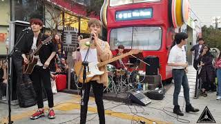 The rose Heartache ( one ok rock cover)  180911 Busking in Sinchon