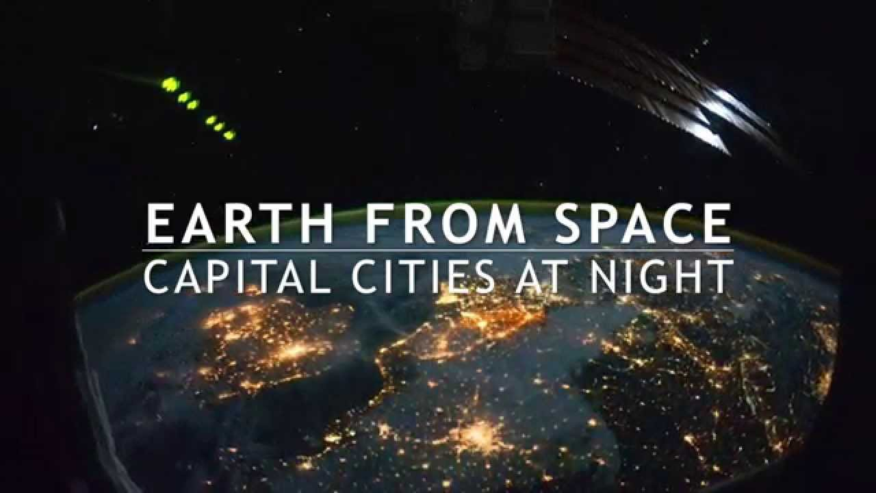 Earth from space capital cities at night youtube earth from space capital cities at night voltagebd Image collections