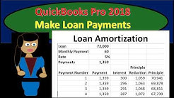 QuickBooks Pro 2018 Loan Payments, Interest, Principle
