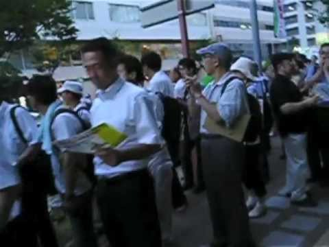 2012/07/27 札幌の脱原発デモ 北海道庁前アクション 札幌市民運動