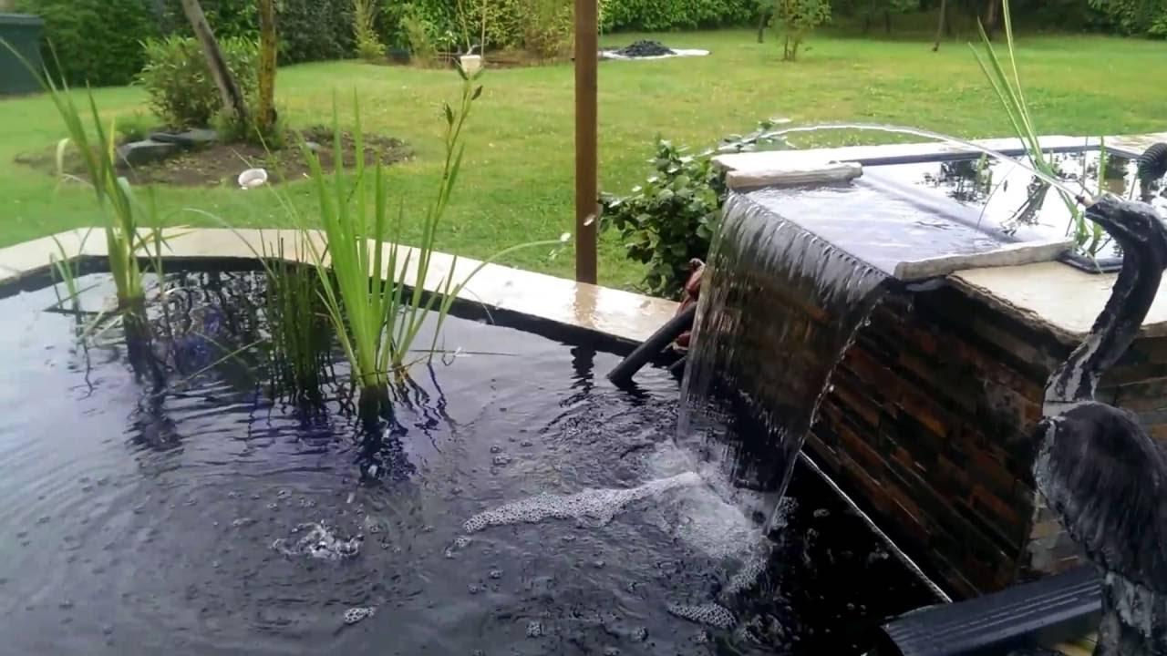 mon bassin avec lame d 39 eau youtube. Black Bedroom Furniture Sets. Home Design Ideas