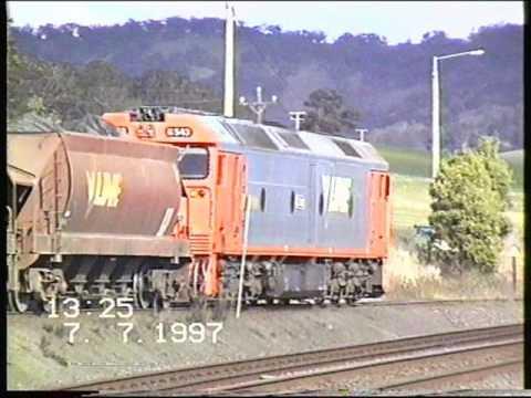 Australian Trains in the 1990's Film 2-1997