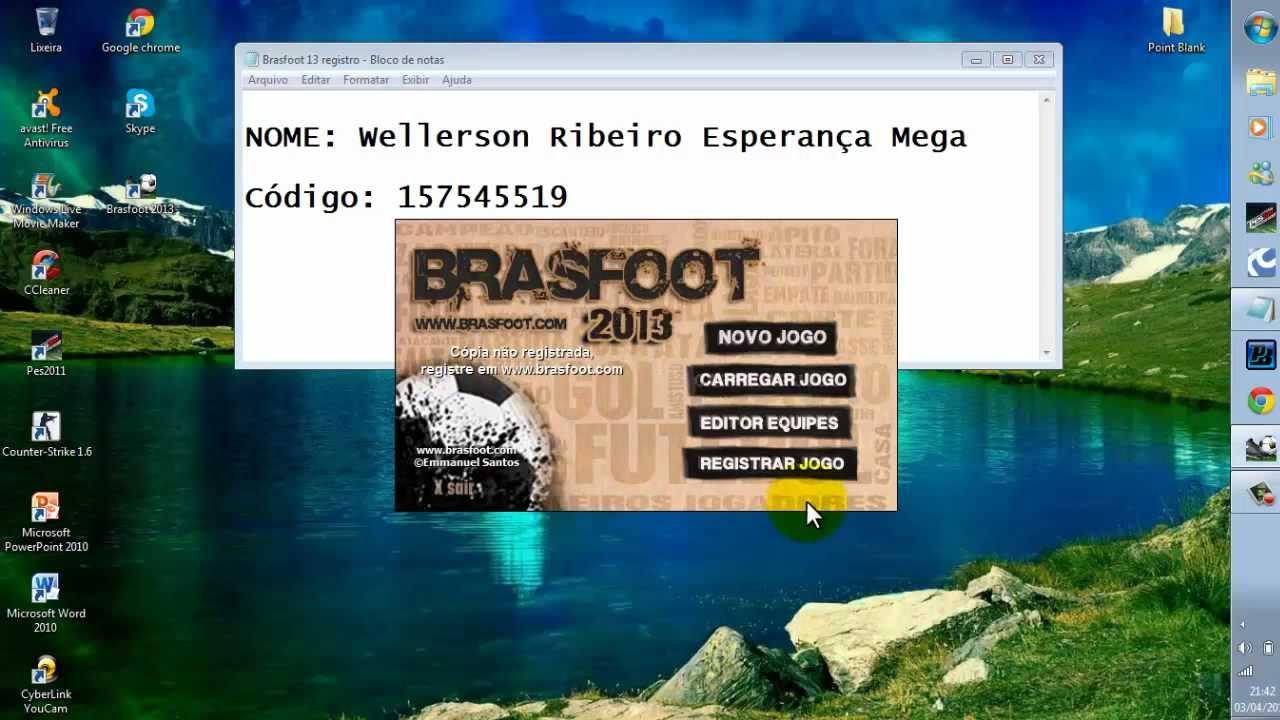 2013 REGISTRADO E GRATUITO GRATIS BRASFOOT DOWNLOAD