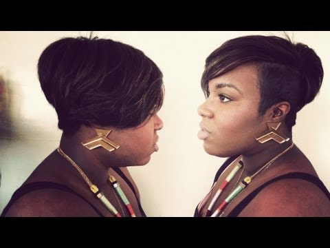 Short Hair'd Girls Guide To: Megan Good Inspired Weave Pt 2 (cutting & styling)