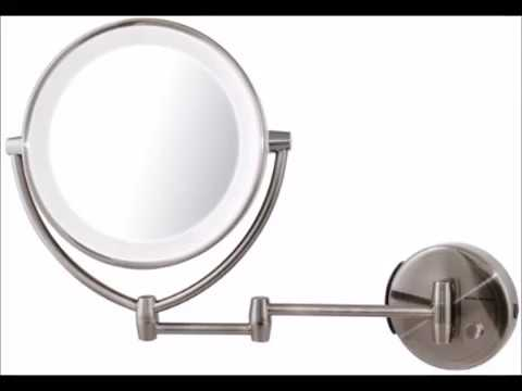 Ovente led lighted wall mount makeup mirror 1x 10x magnification 9 ovente led lighted wall mount makeup mirror 1x 10x magnification 9 5 inch nickel brushed aloadofball Gallery