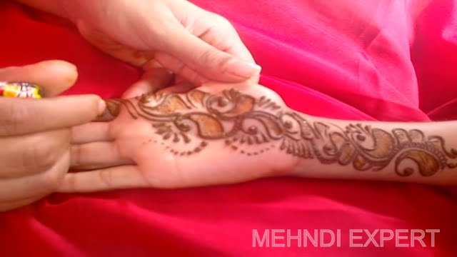Mehndi Hands With Watch : New arabic mehndi design for hands toutorial youtube