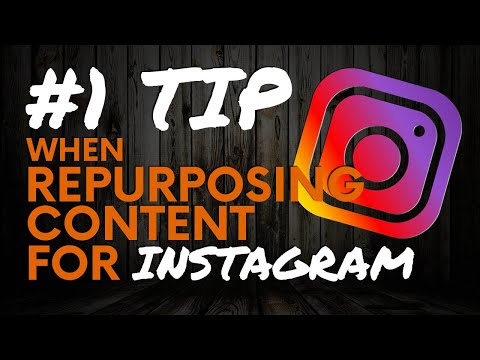 #1 Thing To Consider When Repurposing For Instagram