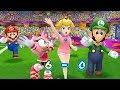 Mario & Sonic at the London 2012 Olympic Games -Team Peach, Luigi, Amy, Mario Play Football