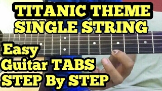 TITANIC Theme Guitar Tabs Lesson/Tutorial | SINGLE STRING | My heart will Go on Tabs | FingerTaping