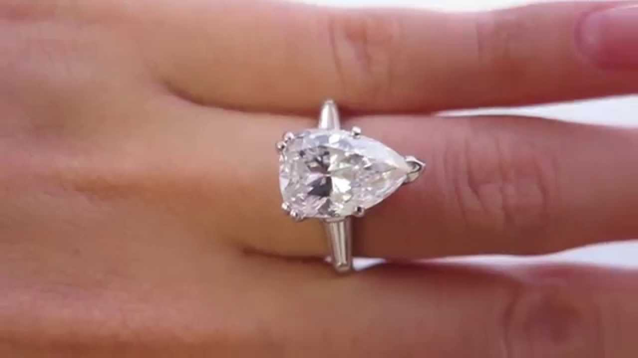ring youtube diamond princess colorless ct cut watch rings engagement
