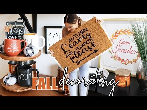 FALL DECORATE WITH ME! || Fall Decor Ideas & Homesense Haul!