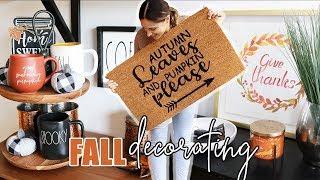 FALL DECORATE WITH ME!    Fall Decor Ideas & Homesense Haul!