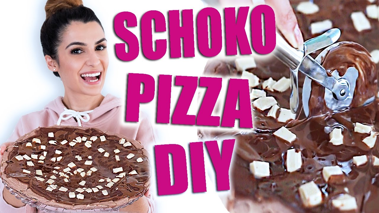 Schokoladen Pizza Diy Food Hack Dr Oetker Schoko Pizza Selber