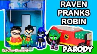 TEEN TITANS GO! Parody Raven Pranks Robin and makes him Baby Robin Very Funny