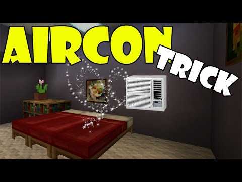 AIR CONDITIONER TRICK | Minecraft PE (Pocket Edition) MCPE