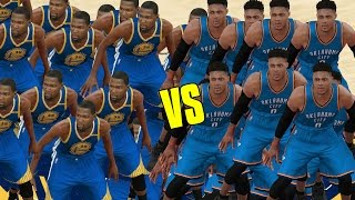 15 KEVIN DURANTS VS 15 RUSSELL WESTBROOKS! WHO WILL WIN? NBA 2K17 GAMEPLAY!