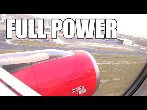 FULL POWER TAKEOFF | VivaAerobus | Monterrey - Mexico City | XA-VAG