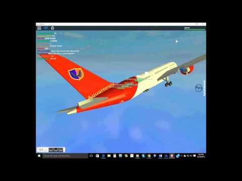 Roblox Tripreport! Economy Class  ||Aqua airways flight|Boeing 787
