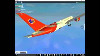 Roblox Tripreport! Economy Class ||Aqua airways flight|Boeing 787