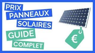 Prix Des Panneaux Solaires  Guide Complet 2020