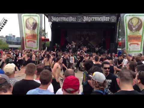 Job for a Cowboy - Live at Toronto Mayhem Festival, July 10 2013