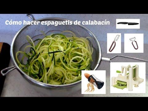C mo hacer espaguetis de calabac n youtube for Como armar mi cocina
