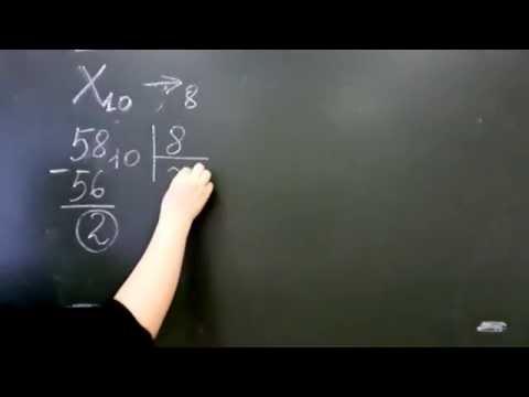 Как перевести из десятичной в восьмеричную систему