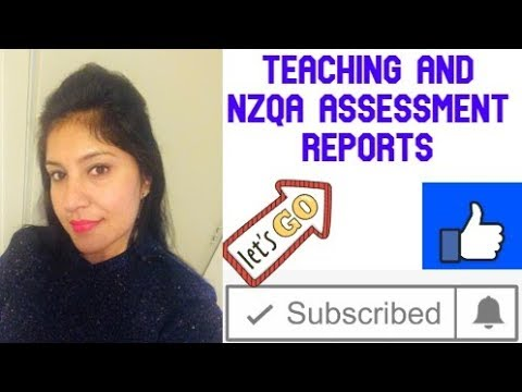 Teaching & Nzqa Assessment Report And Jobs