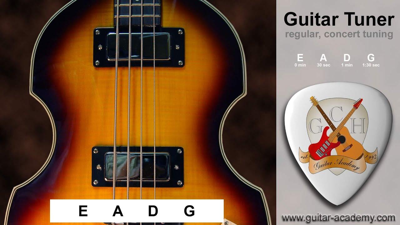 bass tuner 4 string bass guitar tuner youtube. Black Bedroom Furniture Sets. Home Design Ideas