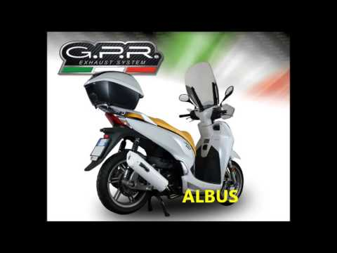 Honda Sh 300 2016 Gpr Exhaust Systems Sound Catalogue Scarico Gpr
