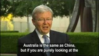 Kevin Rudd Interviewed on Mandarin News Australia
