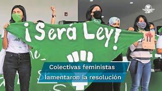 Con siete votos a favor y 13 en contra, el Congreso de Quintana Roo desechó este martes el dictamen para aprobar el aborto legal