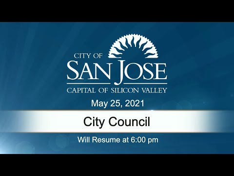 MAY 25, 2021 | City Council, Evening Session