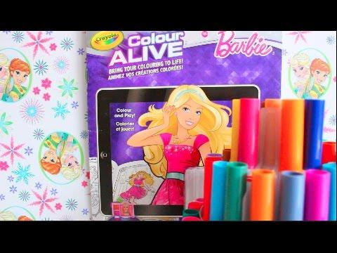 barbie color alive cool fun crayola coloring book - Color Alive Coloring Book