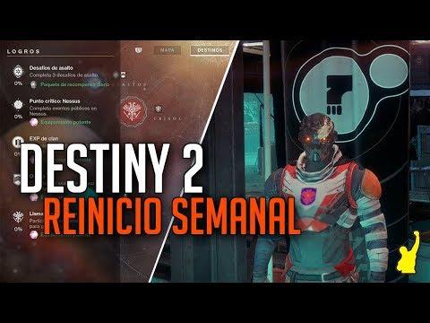 Destiny 2 - Reinicio Semanal | Nuevo Armamento Poderoso, Ocaso, Inventario Vendedores y más [12 Sep]