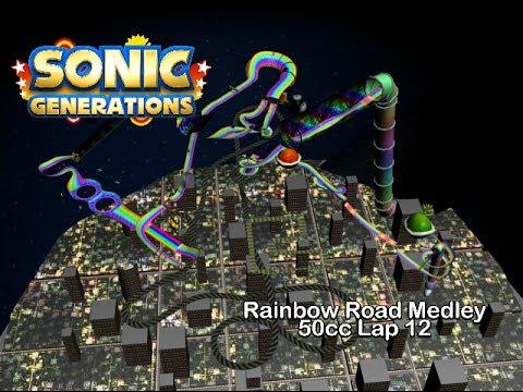 Sonic Generations - 50cc Rainbow Road Medely Lap12