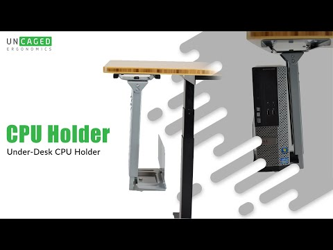 CPU2 Overview: Under Desk CPU Holder Swivels 360 & Slides In And Out.