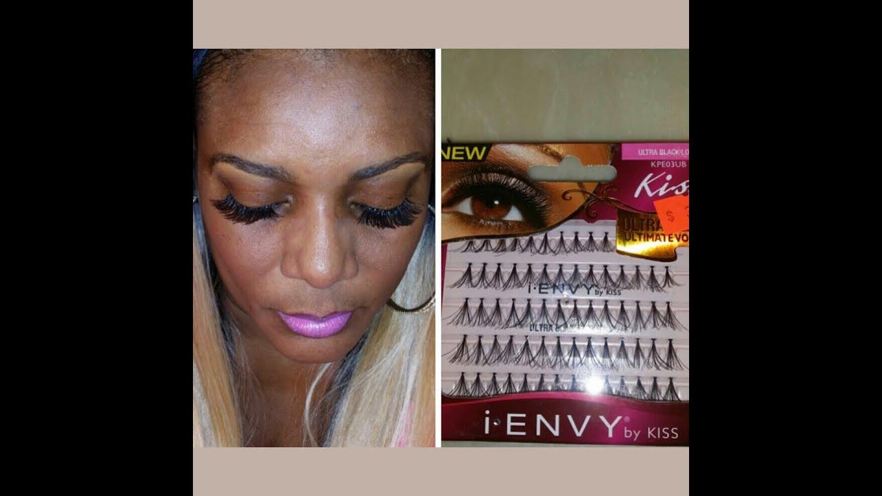 6f342de1b6a Kiss ultra black individual lashes - YouTube