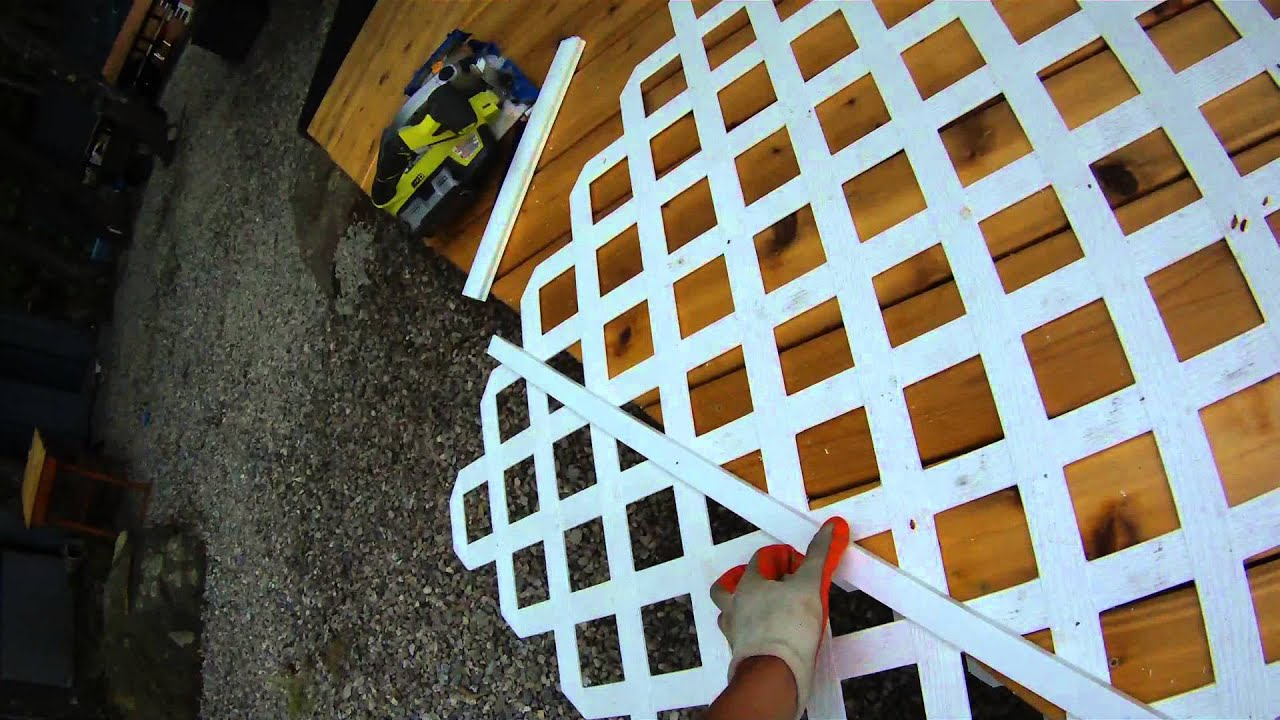 Deck Building P4 How To Install Lattice On A Deck