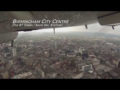 Aerial Tour of the West Midlands in a DA42 Twinstar