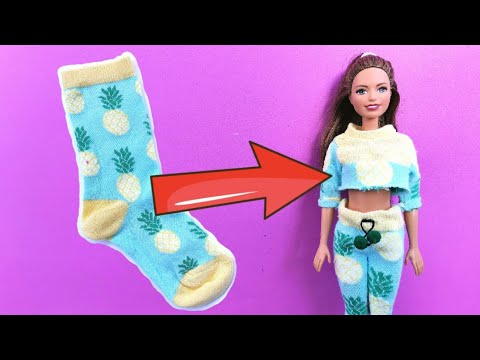 How to Make CLOTHES for BARBIE Doll | Barbie Clothes Ideas