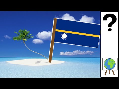 A Country so Small its Flag is a Map - Nauru