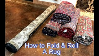 pack a rug for shipping storage or