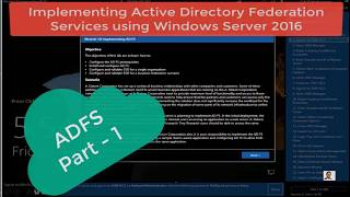 ADFS single sign on part 1   windows server 2016 - 20742B M10