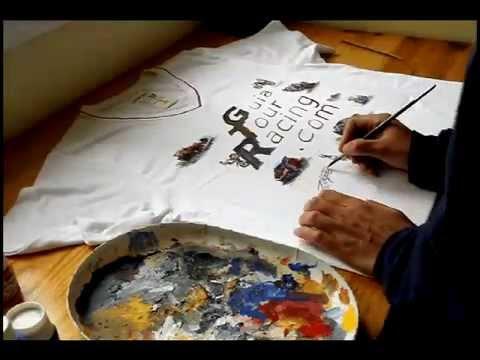 Camiseta pintada a mano guiatourracing arte pintura - Pinturas para pintar camisetas ...