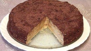 """Торт """"Микадо"""". Простой в приготовлении. Для любителей песочных и слоеных тортиков."""