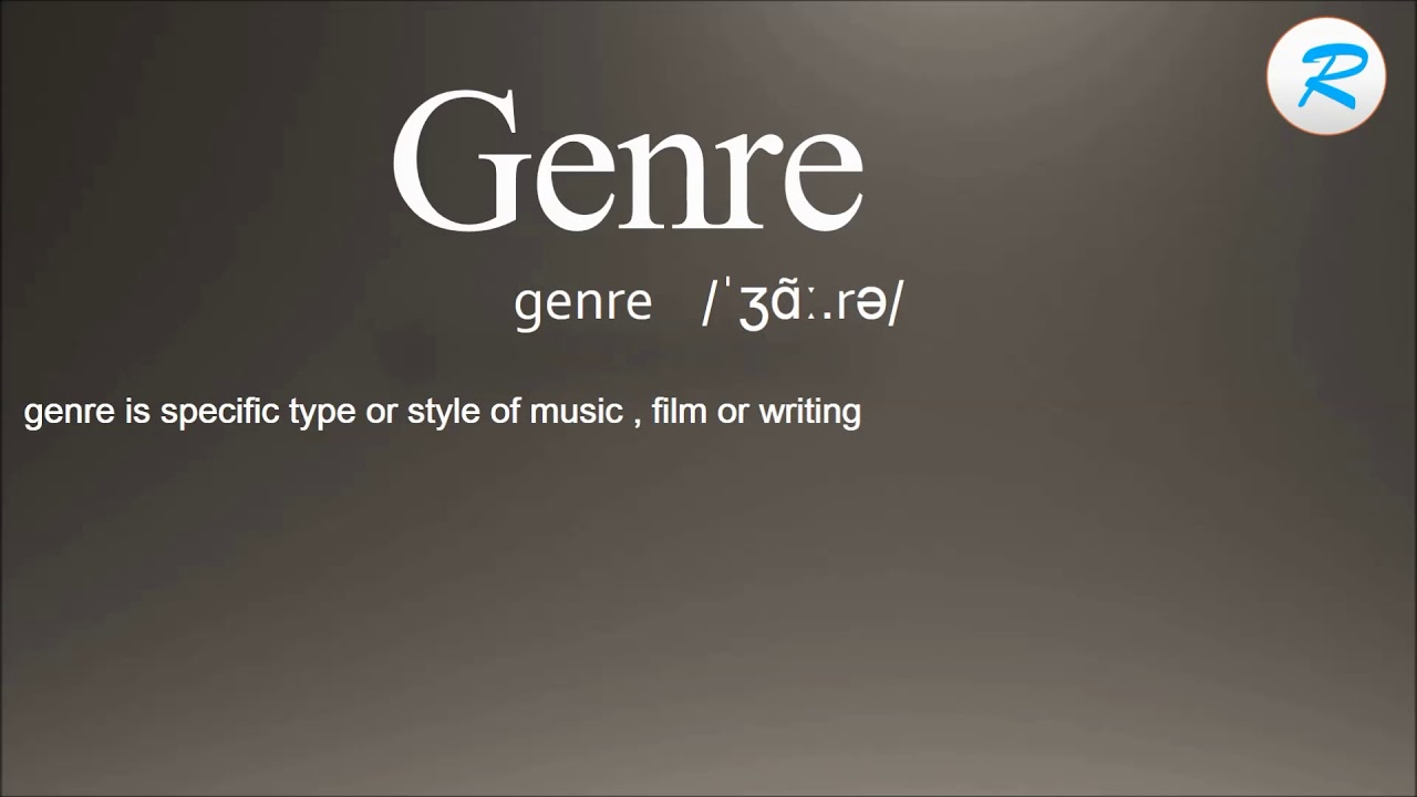 How to pronounce Genre