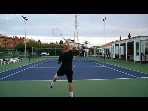Testing Novak's real racquet
