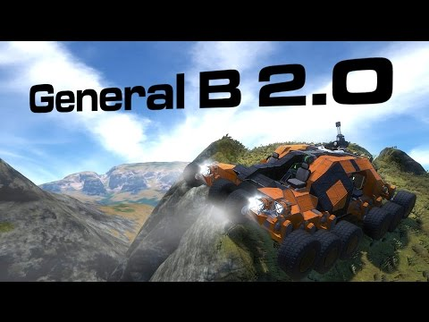 Space Engineers - The General Bee 2.0 Offroad Rover & WIP Race Map