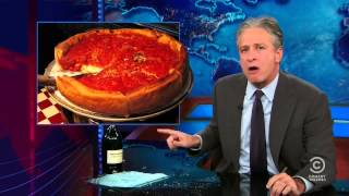 Jon Stewart defends NY pizza
